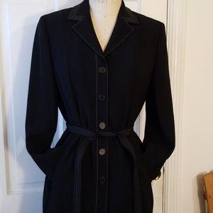Ann Taylor black dress coat